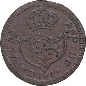 1817  1-4 real small date caracas a