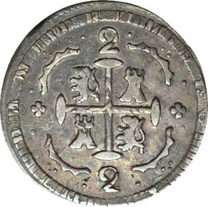 2 reales 1818  (1830) Gran Colombia