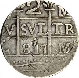 2 reales 1817 Macuquina