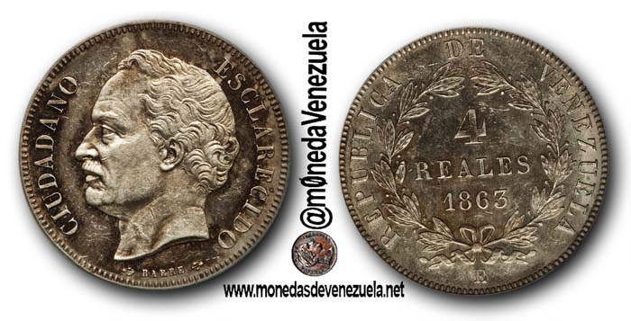 4 reales 1863