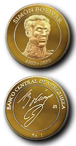 Moneda en Honor a Bolivar